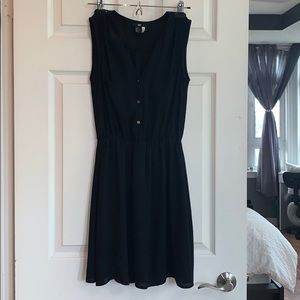 H&M Black Chiffon Dress